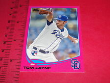 2013 TOPPS Tom LAYNE #290 Pink BCA RC/50 PADRES-RED SOX / Mount Olive TROJANS