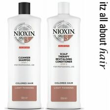 Nioxin System 3 Shampoo & Conditioner 1 Litre Duo Normal to Thin Colored Hair
