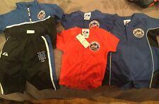 Lot Of 5 NY Mets Romper Jersey, One Piece, Windbreaker Pants Size 6/9M Baby Boys