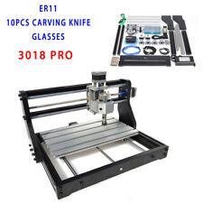 New Listing2500mw Mini Cnc 3018 Pro Diy Woodworking Engraver Machine Pcb 3axis Grbl Control