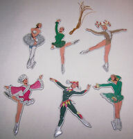 "6 Pc. Tom Tierney's ""Christmas Ice Skaters"" Ornaments B. Shackman 1995 NOS"