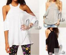 Hand-wash Only Solid Sleeveless T-Shirts for Women