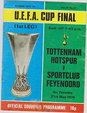 Programme Tottenham Hotspur v Feyenoord Rotterdam 21-05-1974 UEFA Cup Final