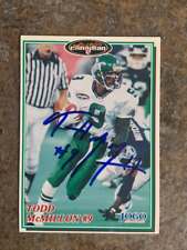 signed in person  TODD McMILLON  CFL SASKATCHEWAN ROUGHRIDERS   JOGO # 200  1997