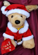 Christmas Santa Bag Build A Bear Pet Dog Outfit  Boxers Name Tag Pack Barks Joy