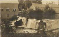 Marlow NH Mill Dam & Bldgs c1910 Real Photo Postcard