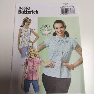 Butterick 6563 Gertie Retro 1950s Blouse Pattern Sz 6 - 14 NEW Uncut