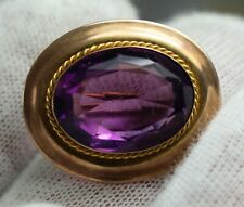 10K Gold and Amethyst Pin