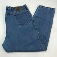 Wrangler Denim Jeans Mens 42X32 Blue Straight Leg Regular Fit 100% Cotton Washed