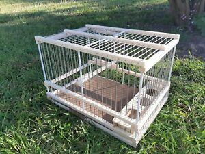 Bird Cage handcrafted wooden // Bird House