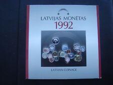 Latvia 1992 coin set BU 1 santims - 2 lats 3,88 lats