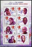 SIERRA LEONE  2015 HEROES IN THE FIGHT AGAINST EBOLA VIRUS SHEET MINT NH