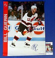 BILL GUERIN SIGNED 17x22 POSTER ~ NJ Devils Hockey ~ JSA KK24698