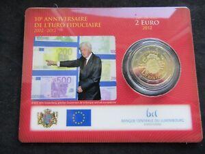 2 Euro Commémorative Coincard Bu Luxembourg 2012 10 Ans de l'Euro