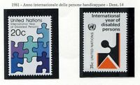 19159) UNITED NATIONS (New York) 1980 MNH** Disabled People