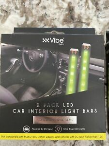 1 Box Car interior LED light bars 2-pack Green