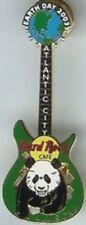 Hard Rock Cafe ATLANTIC CITY 2003 EARTH DAY PIN Panda Guitar GLOBE Guitar Head