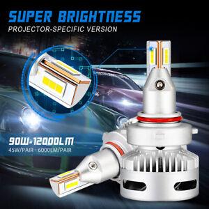 NOVSIGHT 9005/9006/9012/D1/D2/D5/H7/H11 LED Headlight 90W Bulbs Projector Lens
