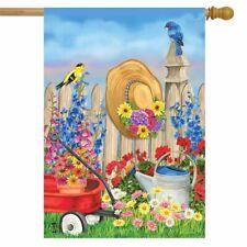 "Green Thumb Spring House Flag Floral Gardening 28"" x 40"" Briarwood Lane"