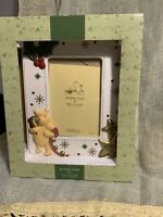 Classic Pooh By Disney Holiday Porcelain  Picture Frame 4x6 Photo NIB
