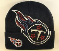 Tennessee Titans NFL Navy Cuffed Knit Hat Logos