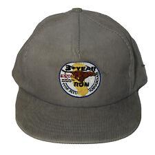 Vtg K studio Exxon 3 YR Run Tiger Patch Trucker Snapback Corduroy Cap Retro Hat