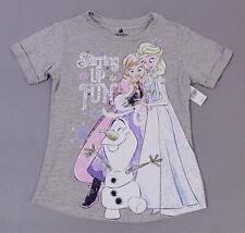 Disney Parks Girls S/S Frozen Ella Anna Olaf Stirring Up Fun T-Shirt BF5 Large