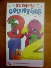 BARNEY: IT'S TIME FOR COUNTING Roadshow Australia Kids Home Video VHS PAL