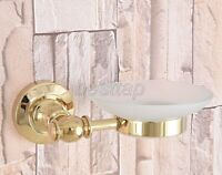 Gold Color Brass Wall Mounted Soap Dish Holder Bathroom Accessory sba306
