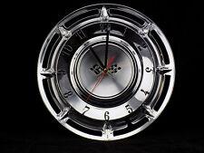 1960 CHEVY CHEVROLET VINTAGE HUBCAP CLOCK - SHOP GARAGE MAN CAVE REC ROOM GIFT !