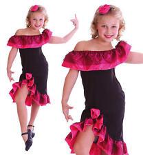 Para Niños Niños Chica Bailarina De Flamenco Fancy Dress Costume español traje L