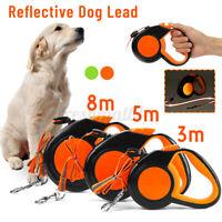 10/20/30KG Neon Reflective Retractable Dog Lead Extending Pet Leash Extendable