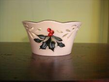 Lenox Winter Greetings ~ Pierced Small Bowl ~ Nib