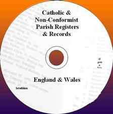 Catholiques et non-conformiste registres paroissiaux & Genealogy records England & Wales
