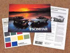 Paper Reliant 1985 Car Sales Brochures