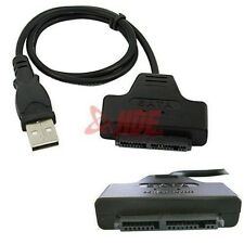 """Black Micro SATA to USB 2.0 for 1.8"""" HDD SSD Cable Connector Converter Wire Cord"""