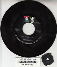 "RAY CHARLES Let Me Love You & I'm Satisfied 7"" 45 rpm record NEW + jukebox strip"