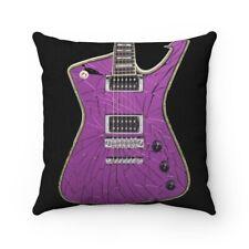 KISS Paul Stanley Purple iceman guitar Pillow Spun Polyester Square Pillow