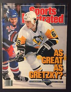 MARIO LEMIEUX Pittsburgh Penguins 1989 Sports Illustrated No Label NEWSSTAND