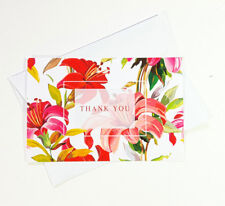 15 Thank You Cards Notes Flower Wedding Business Birthday Thankful Note THANK26