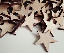 """Crafting Supplies  102 pcs. Laser cut wooden stars 1"""" x 1"""" wood stars"""