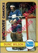 Custom made  1972-73 Vancouver Canucks Dunc Wilson Topps hockey card 1