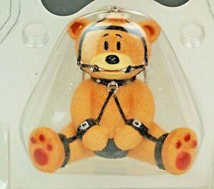 Bad Taste Bears Keychain - JOCK - rare vtg S&M BTB Bear Figurine Peter Underhill