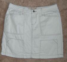 Womens Skirt Mini Khaki with Brown Stitching  Size 9/10