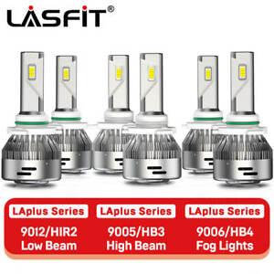 LASFIT LED Headlight+Fog Light Bulb for Ram 1500 2500 3500 w/Projector 2013-2015