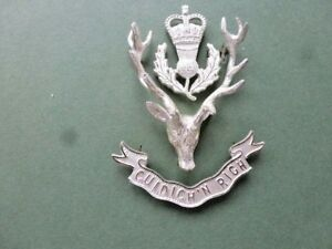 The Highlanders OR's 3 piece & 3 dimensional cap badge