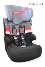 TT Racer First High Back Booster Car Seat Groups 1-2-3 Red Horizon