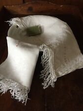 2 Antique Italian Towels. 1 Cotton Damask And 1 Linen