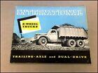 1937 1938 International IHC 6-Wheel Truck D-Line 30Page Vintage Brochure Catalog