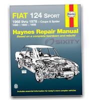 Haynes 34010 Repair Manual Fiat 124 Sport Coupe Spider 68-78 Haynes Repair ts